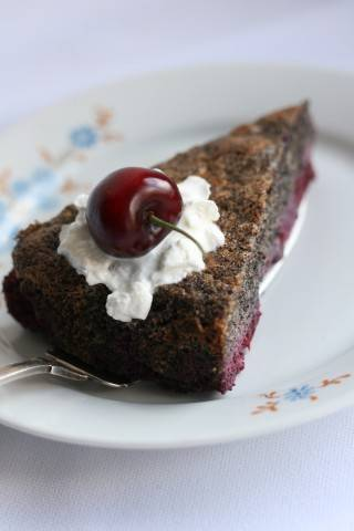 Poppy Seed Cake With Sour Cherry